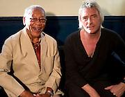 Ernest Ranglin with Paul Weller backstage Island 50