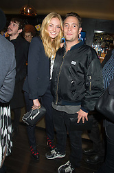 CLARA PAGET and her brother BEN PAGET (Earl of Uxbridge) at the Al Films and Warner Music Screening of Kill Your Friends held at the Curzon Soho Cinema, 99 Shaftesbury Avenue, London on 27th October 2015.