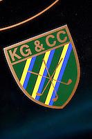 ZANDVOORT - Het clubembleem van de Kennemer Golf Club in Zandvoort. COPYRIGHT KOEN SUYK Copyright Koen Suyk