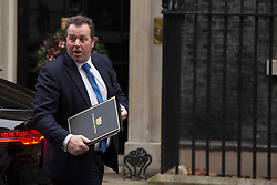 © Licensed to London News Pictures.08/12/2020. London, UK. Mark Spencer a British Conservative Party politician arrives at Downing Street. Boris Johnson witnessed coronavirus vaccinations being given this morning as the biggest immunisation campaign in U.K. history begins. The first Pfizer jab was administered in Coventry to 90-year-oldPhoto credit: Marcin Nowak/LNP
