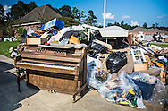 Sept. 2, 2016, Walker, Louisiana, Contents of a flooded home on the curb following a 1000-year club.