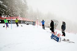 Workers during 2nd run of Men's Slalom race of FIS Alpine Ski World Cup 57th Vitranc Cup 2018, on March 4, 2018 in Podkoren, Kranjska Gora, Slovenia. Photo by Ziga Zupan / Sportida