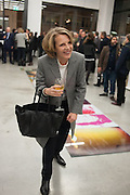 ANNABELLE SELLDORF, Editor of Wallpaper: Tony Chambers and architect Annabelle Selldorf host drinks to celebrate the collaboration between the architect and three of Savile Row's finest: Hardy Amies, Spencer hart and Richard James. Hauser and Wirth Gallery. ( Current show Isa Genzken. ) savile Row. London. 9 January 2012.