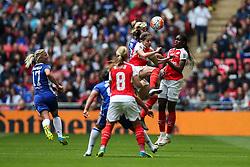 Victoria Losada of Arsenal Ladies in action, heads the ball - Mandatory byline: Jason Brown/JMP - 14/05/2016 - FOOTBALL - Wembley Stadium - London, England - Arsenal Ladies v Chelsea Ladies - SSE Women's FA Cup