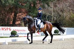 Van Liere Dinja, NED, Hermes<br /> CDI4* Horses and Dreams meets Japan Sports Hagen a.T.W. 2021<br /> © Hippo Foto - Stefan Lafrentz<br />  22/04/2021