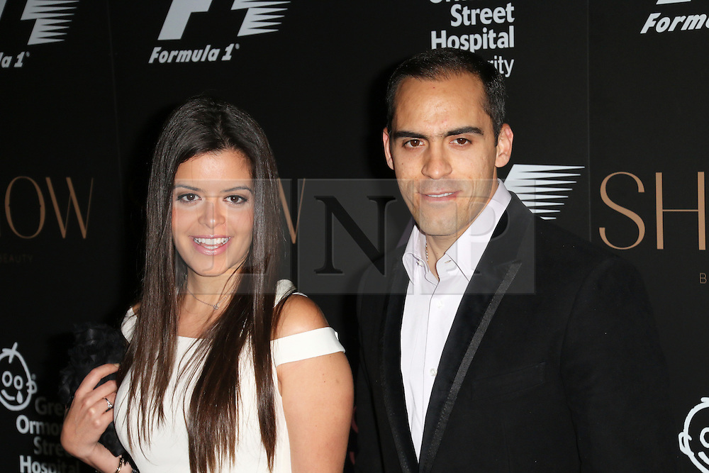 Gabriella Tarkany; Pastor Maldonado; Lotus, F1 Party in aid of Great Ormond Street Hospital Children's Charity, Victoria and Albert Museum, London UK, 02 July 2014, Photo by Richard Goldschmidt © Licensed to London News Pictures. 03/07/2014