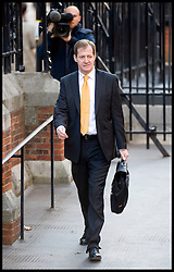 Former Labour Party Spin Doctor Alastair Campbell arrives at the High Court, to give evidence to the Leveson Inquiry in central London, Wednesday November 30, 2011 Photo by Andrew Parsons/ i-Images