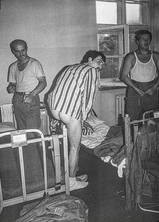 1978-lipiec-sierpień, Otwock - Orzysz. Szkoła Oficerów Rezerwy (SOR) obowiązkowe szkolenie wojskowe absolwentów wyższych uczelni cywilnych. Nz. podbudka.