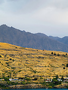 View of the Hector Mountains with Kelvin Heights in the foreground, from Frankton, Otago, New Zealand.