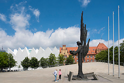Angel of Freedom monument at Plac Solidarnosci Szczecin, Poland