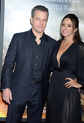 Matt Damon and Luciana Damon at the premiere of '12 Strong' in New York City.