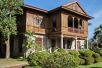 """Balay Negrense - Ancestral home of the Gaston family of French descent, who promoted sugar cane production in Negros Occidental.  After the death of Victor Gaston the family abandoned the house.  It fell into ruin but during the 70s concerned people in Silay repaired the home.  The architecture is a typical example of """"Bahay na bato"""" or house of stone, with European colonial influences."""