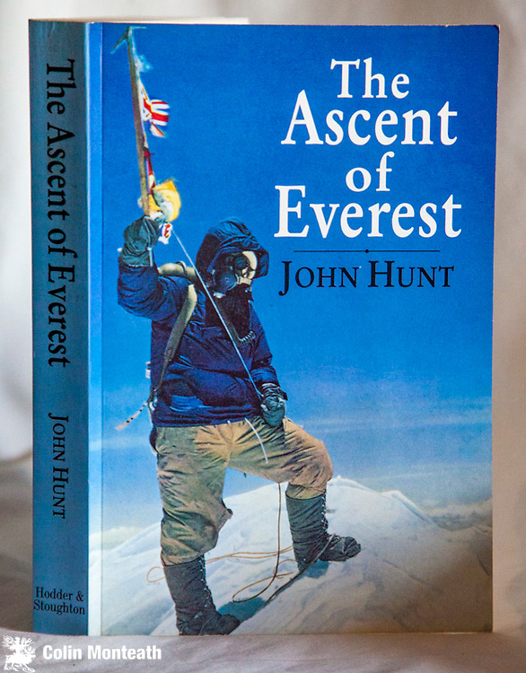 THE ASCENT OF EVEREST,  John Hunt, 40th anniversary edition 1993 Hodder & Stoughton, London, with new intro by Hunt, richly illustrated with colour & B&W plates, 280 page softbound VG+ $35