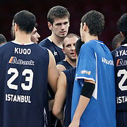 Anadolu Efes's Stanko BARAC (C) during their Two Nations Cup basketball match Anadolu Efes between Panathinaikos at Abdi Ipekci Arena in Istanbul Turkey on Saturday 01 October 2011. Photo by TURKPIX