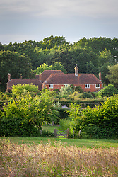 View of the farmhouse at Perch Hill