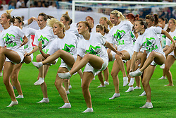 Opening ceremony before opening friendly football match at a new stadium in Stozice between National teams of Slovenia and Australia on August 11, 2010 in Ljubljana. Slovenia defeated Australia 2-0. (Photo by Vid Ponikvar / Sportida)