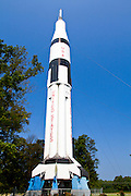 NASA rocket at the Alabama welcome center on Interstate 65.
