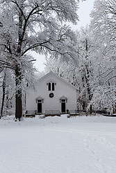 Chapel at Funks Grove just off Historic Route 66, south of Bloomington-Normal IL