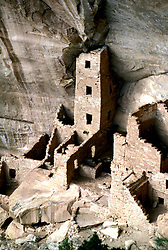 Colorado: Mesa Verde National Park, Square Tower ruin, comesa105   .Photo copyright Lee Foster, 510/549-2202,  lee@fostertravel.com, www.fostertravel.com