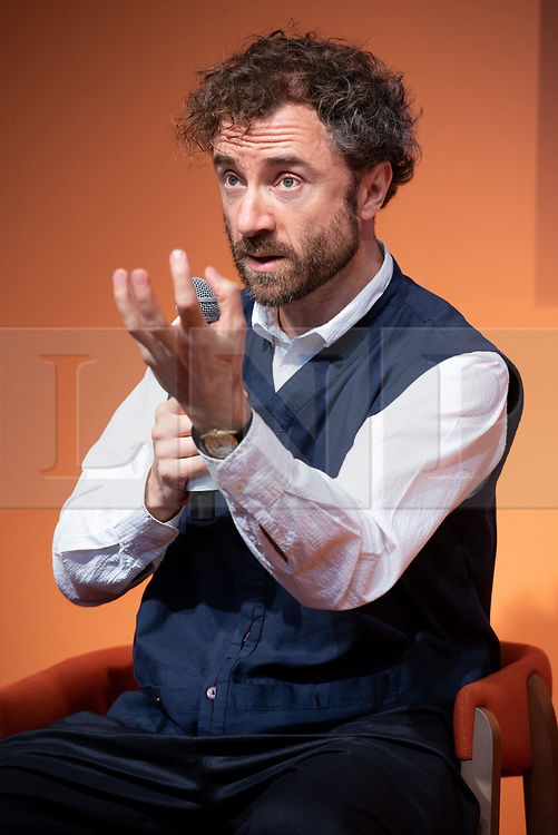 © Licensed to London News Pictures. 19/09/2018. London, UK. British architect and designer Thomas Heatherwick takes part in a talk at the 100% Design Show at Olympia.  credit: Ray Tang/LNP