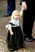 Hare Koninklijke Hoogheid Prinses Alexia, de jongste dochter van Zijne Koninklijke Hoogheid de Prins van Oranje en Hare Koninklijke Hoogheid Prinses Máxima, is zaterdag 19 november 2005 gedoopt in de Dorpskerk in Wassenaar. <br /> <br /> Baptism of Princess Alexia, the youngest daughter of Prince Willem-Alexander and Princess Máxima. Princess Alexia (born June 26, 2005) has been baptized in the church in Wassenaar. The ceremony was attended by The Dutch Royal Family and the parents of Princess Máxima.  <br /> <br /> Op de foto / On the photo:<br /> <br /> <br /> Hare Koninklijke Hoogheid Prinses Catharina-Amalia  (dochter van Maxima en Willem Alexander )<br /> <br /> Her royal highness princess Catharina-Amalia (for the of maxima and Willem Alexander)