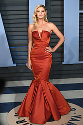 Kelly Rohrbach arriving at the Vanity Fair Oscar Party held in Beverly Hills, Los Angeles, USA. PRESS ASSOCIATION Photo. Picture date: Sunday March 4, 2018. See PA Story SHOWBIZ Oscars. Photo credit should read: PA Wire