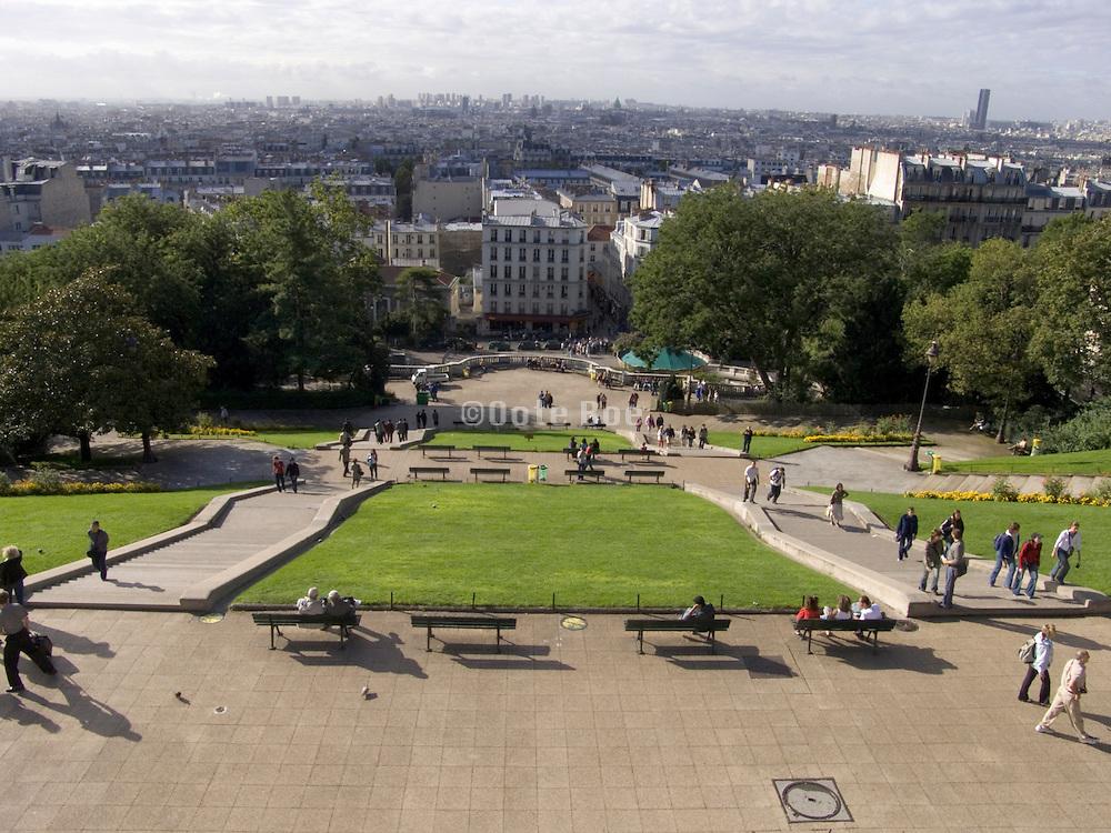 view of Paris and park from Sacre Coeur Paris