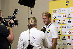 August 28, 2017 - Sofia, BULGARIEN - 170828 Swedish player Ola Toivonen meets media at a Mixed Zone arranged by The Swedish Football Association 28 August 2017 in Sofia, Bulgaria. Sweden is preparing for the upcoming World Cup qualifying game between Bulgaria and Sweden on 31 August  (Credit Image: © Nikolay Doychinov/Bildbyran via ZUMA Wire)