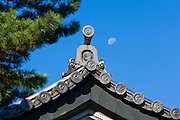 Detail of building in the Imperial Palace East Gardens in Tokyo, Japan.