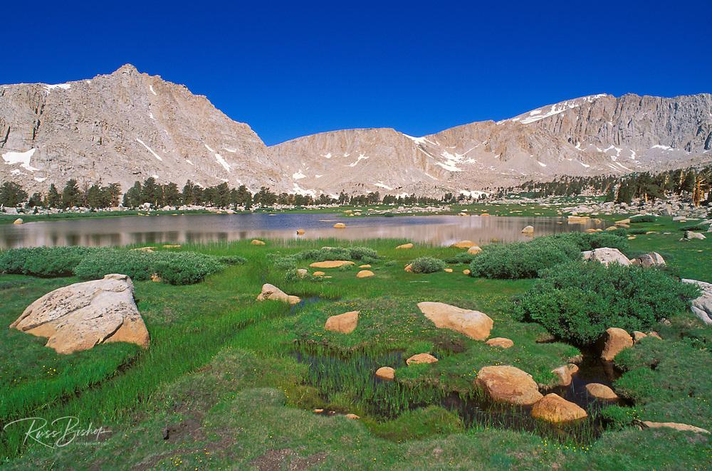 Blue sky over Sierra peaks from the Cottonwood Lakes Basin, John Muir Wilderness, Sierra Nevada Mountains, California
