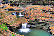 Watkins Glen State Park in the Finger Lakes Region of New York State offers beautiful hikes through the gorge past multiple waterfalls.