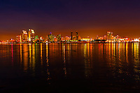 Skyline of downtown San Diego, California USA, seen from Coronado Island.