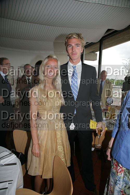 Martha Ward and James Cook, Glorious Goodwood. 2 August 2007.  -DO NOT ARCHIVE-© Copyright Photograph by Dafydd Jones. 248 Clapham Rd. London SW9 0PZ. Tel 0207 820 0771. www.dafjones.com.