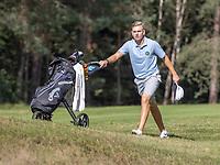HILVERSUM - Sweden player Gustav Andersson  against Denmark (3-0).  Quarter finals. ELTK Golf 2020 The Dutch Golf Federatio.n (NGF), The European Golf Federation (EGA) and the Hilversumsche Golf Club will organize Team European Championships for men. COPYRIGHT KOEN SUYK