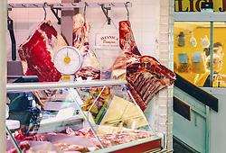 THEMENBILD - Fleischmarkt in Rijeka, aufgenommen am 13. August 2019 in Rijeka, Kroatien // meat market in Rijeka, Croatia on 2019/08/13. EXPA Pictures © 2019, PhotoCredit: EXPA/Stefanie Oberhauser