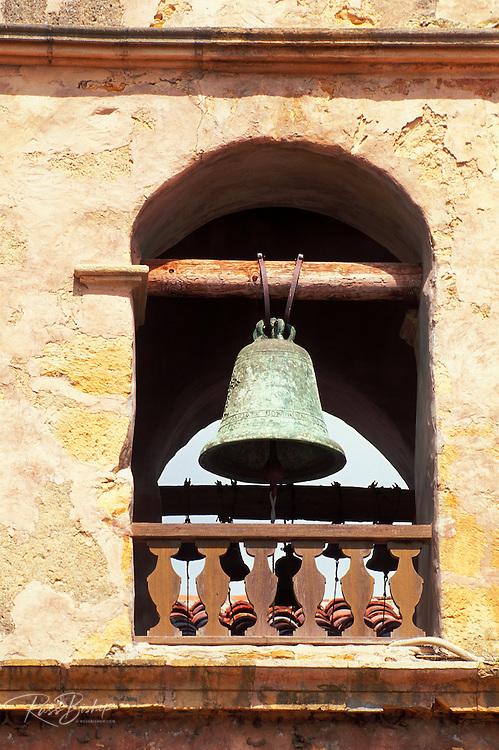 Bell tower at Mission San Carlos Borromeo de Carmelo (2nd California Mission), Carmel, California