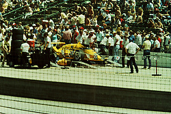 Indianapolis Time Trials, May 1987<br /> #25 - Al Unser<br /> <br /> A scan from an old photo or slide from the collection of Alan and Becky Look dated 1987 and 1988.