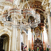 Interior of Prague's Church of St. Nicholas
