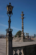 Neo Pombaline pillory monument on the Terreiro Da Se, outside the Cathedral de Se, on 21st July, in Porto, Portugal. The Pombaline style was a Portuguese architectural style of the 18th century, named after Sebastiao Jose de Carvalho e Melo, the first Marques de Pombal who was instrumental in reconstructing Lisbon after the earthquake of 1755. (Photo by Richard Baker / In Pictures via Getty Images)