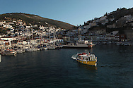 The harbour on  the island of Hydra, Greece. Photograph by Dennis Brack
