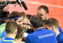 Team Slovenia during friendly handball match between Slovenia and Srbija, on October 27th, 2019 in Športna dvorana Lukna, Maribor, Slovenia. Photo by Milos Vujinovic / Sportida