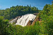 The Magpie River flows over scenic High Falls (also known as Magpie High Falls)<br /> Wawa<br /> Ontario<br /> Canada