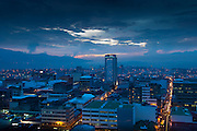 Dusk settles over the capital city of San Jose, Costa Rica.