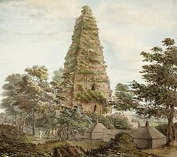 Mahabodhi temple, Bodh Gaya (Bihar). Mahabodhi temple. c.1800. Water-colour; 15.75 by 17.5 ins. Source: WD 14. Language: English. Author: James Crockatt. (Credit Image: © Album via ZUMA Press)