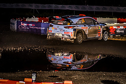 October 26, 2017 - Deeside, Wales, United Kingdom - 16 Dani Sordo (ESP) and co-driver Marc Marti (ESP) of Hyundai Motorsport compete in the Tir Prince Special Stage, Wales of the Rally GB round of the 2017 FIA World Rally Championship. (Credit Image: © Hugh Peterswald/Pacific Press via ZUMA Wire)