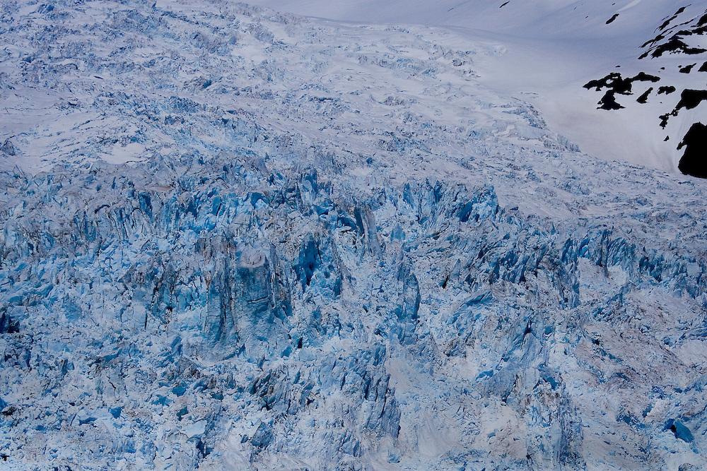 Ice formations - Detail of Aialik Glacier, Aialik Bay, Kenai Fjords National Park, Alaska