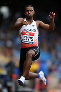 Daniel Lewis competing in the Men's Triple Jump Final. The British Championships 2016, athletics event at the Alexander Stadium in Birmingham, Midlands  on Saturday 25th June 2016.<br /> pic by John Patrick Fletcher, Andrew Orchard sports photography.