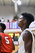 NORTH AUGUSTA, SC. July 10, 2019. Player watches the ball at Nike Peach Jam in North Augusta, SC. <br /> NOTE TO USER: Mandatory Copyright Notice: Photo by Alex Woodhouse / Jon Lopez Creative / Nike
