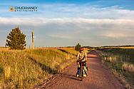 Riding the Cowboy Trail in Valentine, Nebraska, USA MR