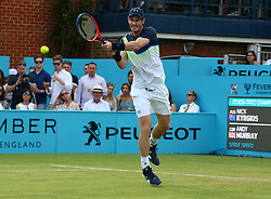 June 19, 2018 - United Kingdom - Andy Murray (GBR) in action.during Fever-Tree Championships 1st Round match between Nick Kyrgios (AUS) against Andy Murray (GBR) at The Queen's Club, London, on 19 June 2018  (Credit Image: © Kieran Galvin/NurPhoto via ZUMA Press)